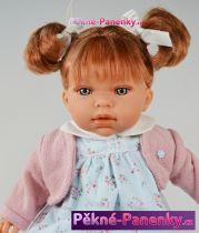 Mluvící česací panenka Antonio Juan® Any Dots zrzavá  37cm