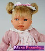 Mluvící dětská česací panenka Antonio Juan® Any Dots blond  37cm