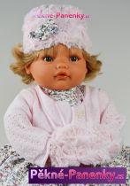 Mluvící panenka Antonio Juan® Beni šedé šaty  42cm