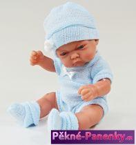 Realistické koupací miminko Antonio Juan® Pitus Mantita modré s dečkou 26 cm