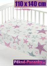 Dětská španělská deka do kočárku MORA® Color růžová 110x140cm