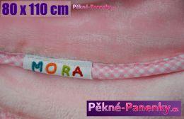 Dětská španělská deka MORA® Dolcce růžová 80x110cm