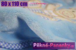 Dětská španělská deka MORA® Dolcce modrá 80x110cm