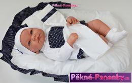 Mluvící realistická panenka Antonio Juan® Nica s peřinkou 40cm