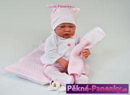 Realistická panenka Antonio Juan® Nacido s polštářkem 40cm