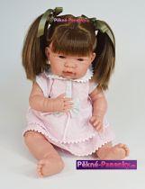 Česací panenka D´nenes Mio-Mio hnědá 43 cm