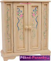 Nábytek (skříň) pro panenky dřevo