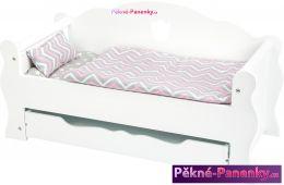 Nábytek (postel) pro panenky s úložným prostorem