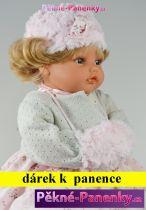 AKCE Mluvící panenka Antonio Juan® Beni růžové šaty  42cm