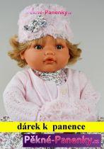 AKCE Mluvící vinylová panenka Antonio Juan® Beni šedé šaty  42cm