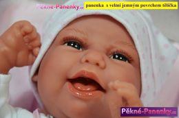 Realistické miminko s dudlíkem Antonio Juan® Clara 33 cm
