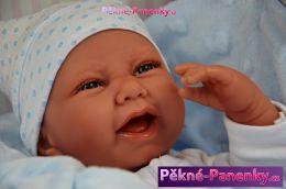 originalní španělské panenky pro děti realistické španělské panenky Antonio Juan, panenky jako živé miminko, chlapeček s pindíkem mluvící panenky ze Španělska pro děti