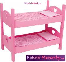 Nábytek (patrová postel) pro panenky růžová