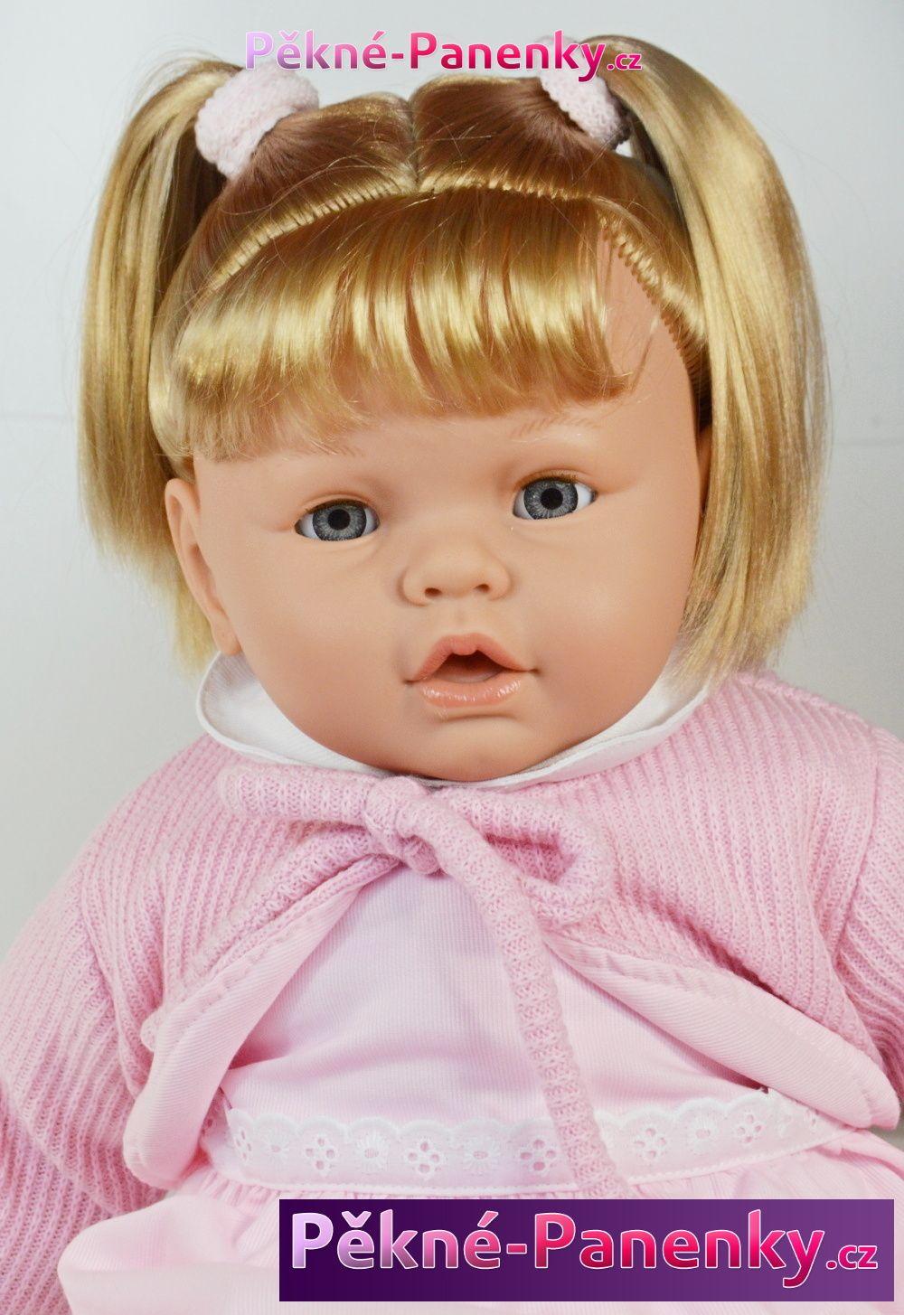 Arias velká mrkací a mluvící panenka, která vypadá jako živá, kvalitní španělská panenka