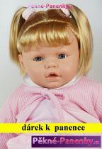 AKCE Velká, mluvící a mrkací panenka Arias® Leonor růžová 62 cm