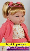 AKCE Velká mluvící panenka Arias® Fanny růžová 50cm