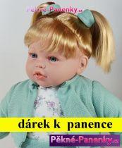 AKCE Velká mluvící panenka s dlouhými vlasy Arias® Fanny zelená 50cm