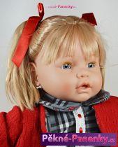Velká, mrkací a plačící panenka Berbesa® Dulzona kostkovaná 62 cm