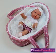 Koupací panenka miminko Arias® Pillines s taškou 26 cm