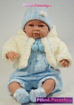 Mluvící velká realistická panenka kluk Berbesa® Sauro 50 cm