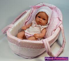 Realistická dětská panenka miminko Arias® Natal s taškou 33 cm