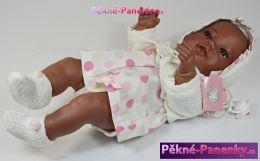 originalní španělské panenky pro děti realistická panenka černoušek, černá panenka, černohlavá panenka Berbesa mluvící panenky ze Španělska pro děti