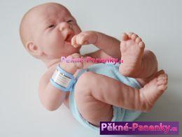 Realistické novorozeně kluk Berenguer® s pindíkem 36cm