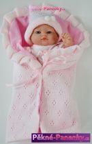Koupací panenka miminko Berbesa® Angeles v zavinovačce 27 cm