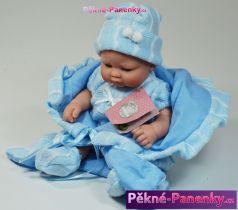 Mini koupací panenka Berbesa® Angeles v zavinovačce modrá 27 cm