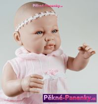 Mluvící realistická panenka 50cm Berbesa® Sara s polštářem