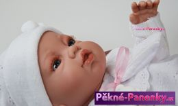 originalní španělské panenky pro děti Realistické panenky jako živé, Berbesa® Angeles s bílým oblečkem 42cm, živé panenky mluvící panenky ze Španělska pro děti