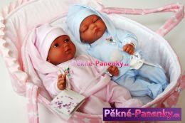 Realistické panenky dvojčata Arias® s taškou 28cm