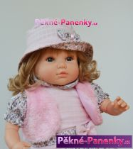 Realistická panenka s vlasy Berbesa Sandra 42cm