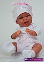originalní španělské panenky pro děti realistické španělské panenky miminka s dudlíkem Antonio Juan, panenky jako živé miminko levně mluvící panenky ze Španělska pro děti