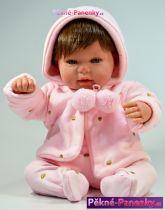 Reborn panenka miminko Arias® Blanca s vlasy 45 cm