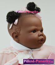 Realistická panenka černoušek Berbesa® Alicia 42cm