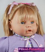 Velká mrkací panenka s vlasy Berbesa® Dulzona fialová 62 cm