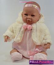 Mluvící velká realistická panenka Berbesa® Sara s kabátkem 50 cm