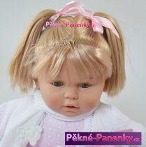 Velká, mrkací a mluvící panenka Berbesa® Dulzona růžová 62cm