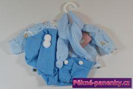 Obleček pro panenky kluky Berbesa® 42cm Angels modré s obrázky