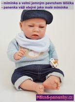 Opravdové miminko kluk Arias® Dafne s polštářkem 40 cm