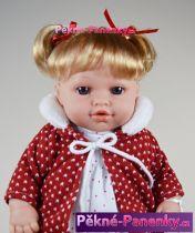 Mluvící realistická panenka s dudlíkem Arias® Emma červená 33cm