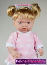 Realistická mluvící panenka Arias® Hanne s klokánkou 28cm