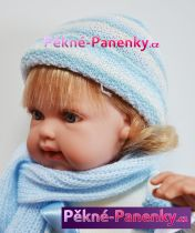 Mluvící mini realistická panenka miminko Arias® Lise modrá 33cm
