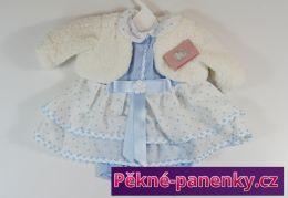 Obleček pro panenky Berbesa® 50cm Sára modrý s kabátkem