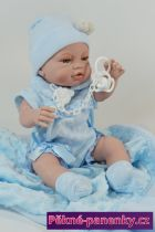 Panenka chlapeček s pindíkem Berbesa® Angeles 42 cm