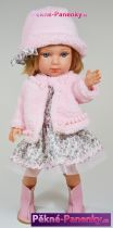 Realistická česací panenka Arias® Carlota růžová 36 cm