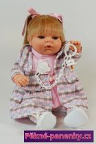 Mluvící realistická panenka s dudlíkem Berbesa® Maria 42cm
