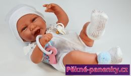 originalní španělské panenky pro děti realistická panenka chlapeček Antonio Juan jako živý, panenka chlapec s pindíkem mluvící panenky ze Španělska pro děti
