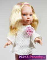 Realistická panenka s vlasy Arias® Carlota bílá 36 cm